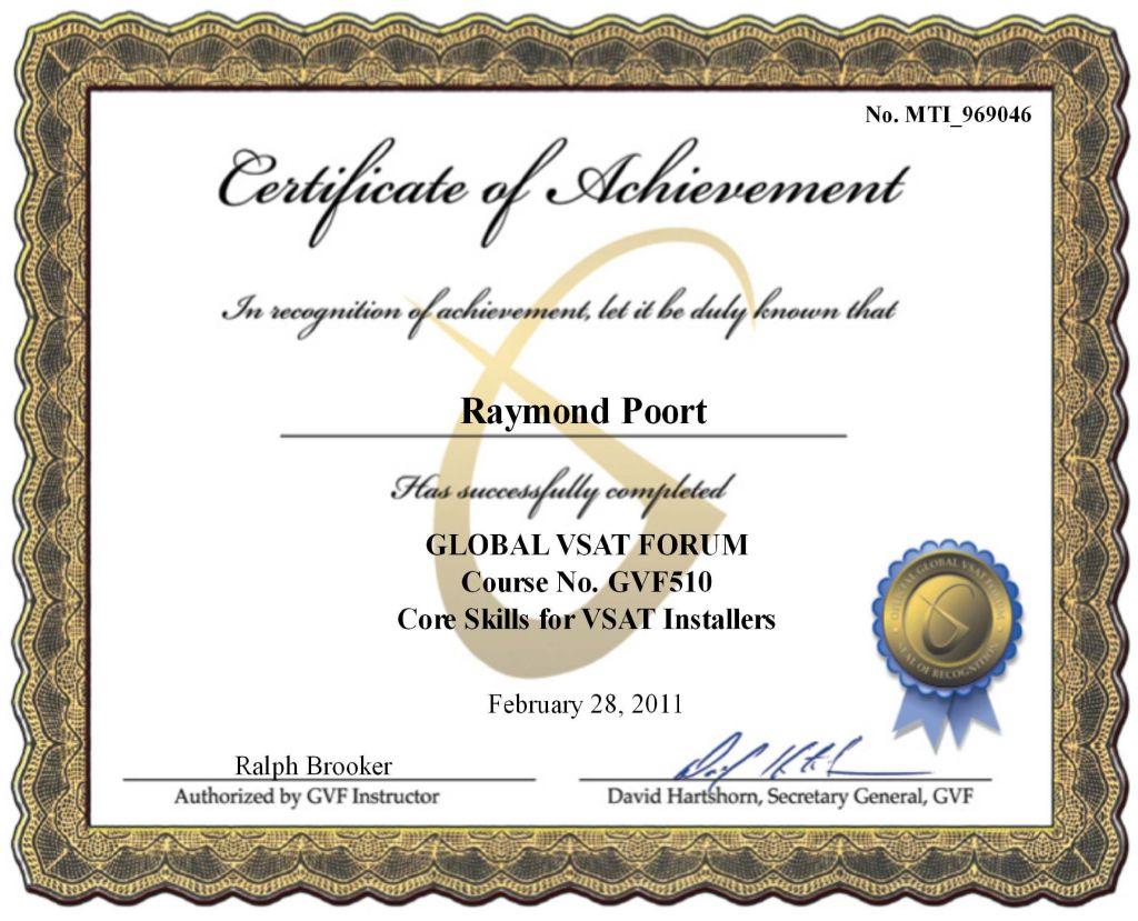 Raymondpoort Blog Archive Certified Vsat Installer