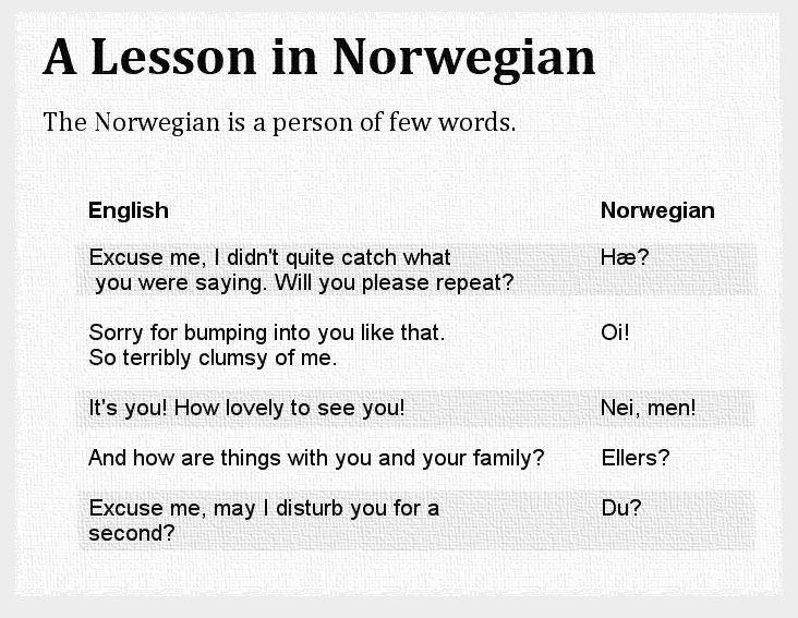 Norwegian (Bokmål) Language Sample | Language Museum